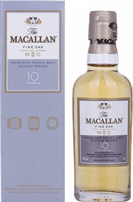 Macallan Fine Oak 10 Years Old mit Geschenkverpackung (1 x 0.05 l) -