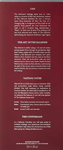 Dalmore 12 Jahre Single Malt Scotch Whisky (1 x 0.7 l) -