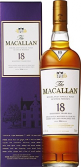 Macallan 18 Jahre Sherry Cask Single Malt Whisky 0,7 Liter -