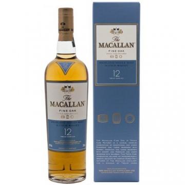 Macallan Fine Oak 12 Jahre Whisky 40vol. 0,7l Flasche -