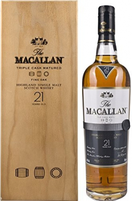 Macallan Fine Oak 21 Years Old in Holzkiste  Whisky (1 x 0.7 l) -