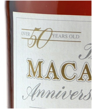 Rarität: The Macallan Anniversary Jahrgang 1928 - 50 Jahre alt 0,7l mit 38,6% vol. incl. Holzkiste mit Lederriemen - Single Malt Scotch Whisky -